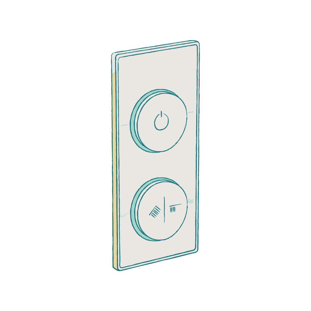 SmarTap_Smart_Shower System_with_White_Dual_Controller